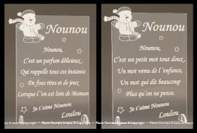 Poème Nounou - Mod. Bonhomme de Neige - Cadeau personnalise personnalisable - 1