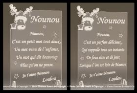 Poème Nounou - Mod. Cerf - Cadeau personnalise personnalisable - 1