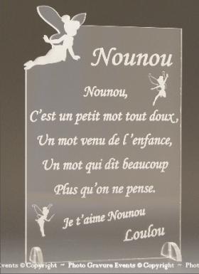 Poème Nounou - Mod. Fée - Cadeau personnalise personnalisable - 1