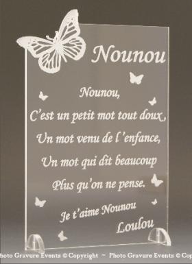 Poème Nounou - Mod. Papillon - Cadeau personnalise personnalisable - 1