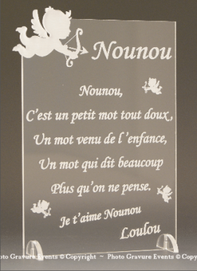Poème Nounou - Mod. Ange - Cadeau personnalise personnalisable - 1