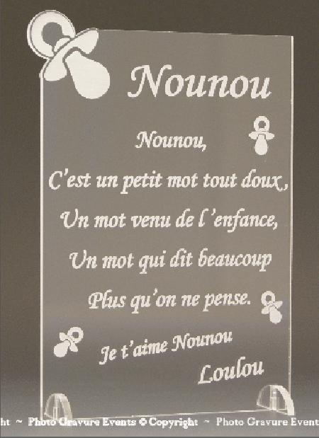 Poème Nounou - Mod. Tototte - Cadeau personnalise personnalisable - 1