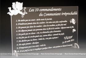 Kit du Communiant - 1 Flûte + 1 Plaque - Cadeau personnalise personnalisable - 1