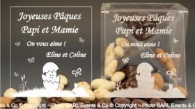 Boite Chocolat Plexiglas - Mod. Poussin - Cadeau personnalise personnalisable - 1