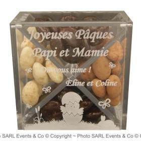 Boite Chocolat Plexiglas - Mod. Poussin - Cadeau personnalise personnalisable - 2