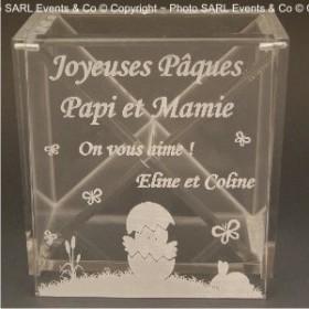 Boite Chocolat Plexiglas - Mod. Poussin - Cadeau personnalise personnalisable - 3