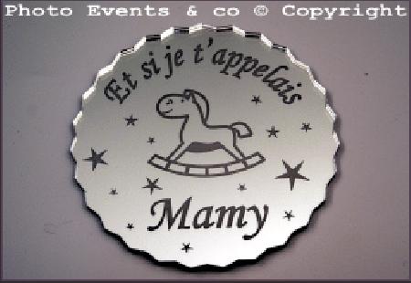 Dessous de Verre - Et si je t'appelais Mamy Mod.Cheval - Cadeau personnalise personnalisable - 1