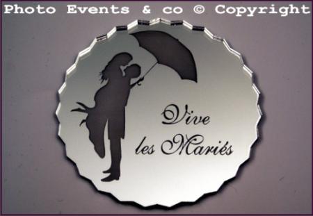 Dessous de Verre Miroir - Ombrelle - Cadeau personnalise personnalisable - 1