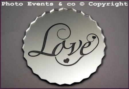 Dessous de Verre Miroir - Love - Cadeau personnalise personnalisable - 1