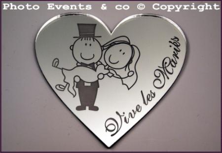 Dessous de Verre Miroir - Couple - Cadeau personnalise personnalisable - 1