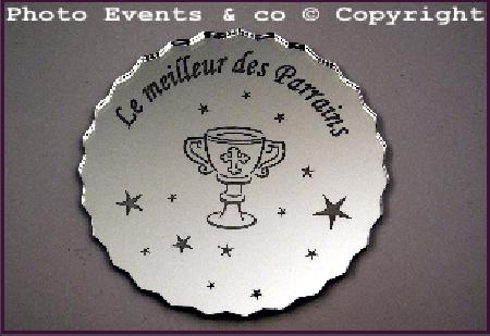 Dessous de Verre - Le Meilleur des Parrains Mod.Calice - Cadeau personnalise personnalisable - 1