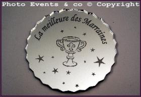 Dessous de Verre - Le Meilleur des Parrains Mod.Calice - Cadeau personnalise personnalisable - 2