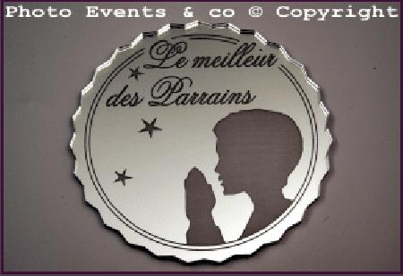 Dessous de Verre - Le Meilleur des Parrains Mod.Prière - Cadeau personnalise personnalisable - 1