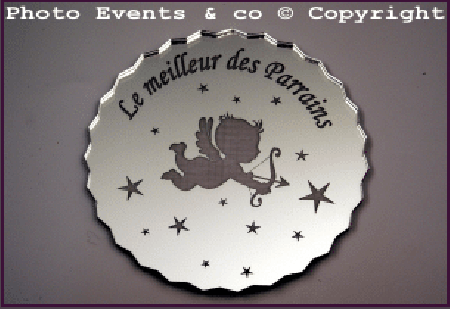 Dessous de Verre - Le Meilleur des Parrains Mod.Ange - Cadeau personnalise personnalisable - 1