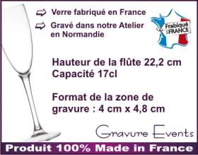 Flûte gravée - J' ♥ mon Grand Pere - Cadeau personnalise personnalisable - 2