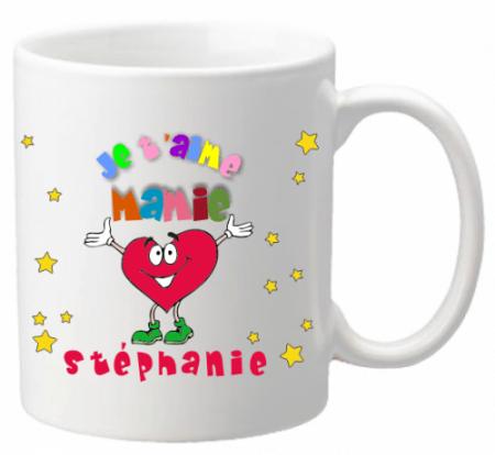Mug Mamie je t'aime Mod.1 - Cadeau personnalise personnalisable - 1