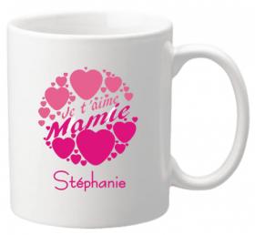 Mug Mamie je t'aime Mod.2 - Cadeau personnalise personnalisable - 1