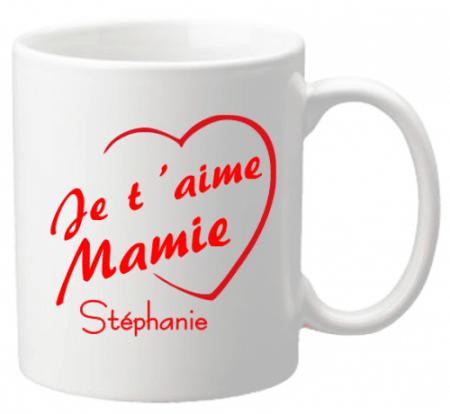 Mug Mamie je t'aime Mod.3 - Cadeau personnalise personnalisable - 1