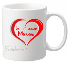 Mug Mamie je t'aime Mod.4 - Cadeau personnalise personnalisable - 1