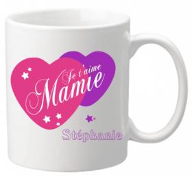 Mug Mamie je t'aime Mod.5 - Cadeau personnalise personnalisable - 1