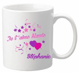 Mug Mamie je t'aime Mod.6 - Cadeau personnalise personnalisable - 1
