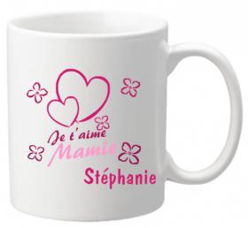 Mug Mamie je t'aime Mod.7 - Cadeau personnalise personnalisable - 1