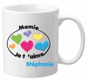 Mug Mamie je t'aime Mod.8 - Cadeau personnalise personnalisable - 1