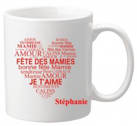 Mug Mamie Fête des Mamies Mod.10 - Cadeau personnalise personnalisable - 1