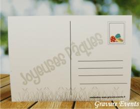 Carte Postale avec Badge - Pâques 1 - Cadeau personnalise personnalisable - 2