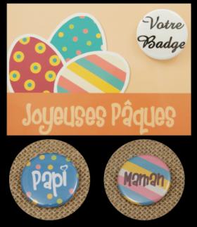 Carte Postale avec Badge - Pâques 1 - Cadeau personnalise personnalisable - 4