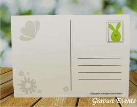 Carte Postale avec Badge - Pâques 2 - Cadeau personnalise personnalisable - 4
