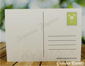 Carte Postale avec Badge - Pâques 3 - Cadeau personnalise personnalisable - 4
