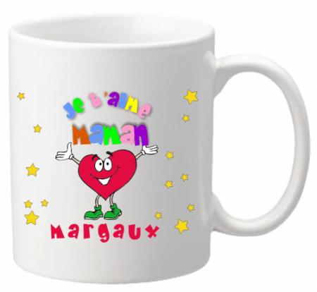 Mug Maman je t'aime Mod.1 - Cadeau personnalise personnalisable - 1