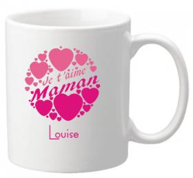 Mug Maman je t'aime Mod.2 - Cadeau personnalise personnalisable - 1