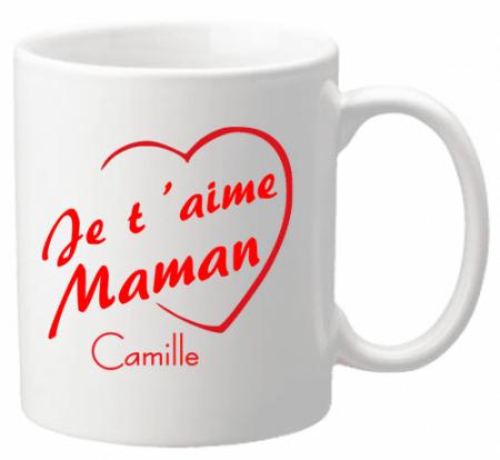 Mug Maman je t'aime Mod.3 - Cadeau personnalise personnalisable - 1