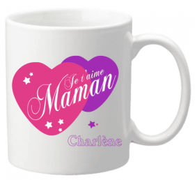 Mug Maman je t'aime Mod.5 - Cadeau personnalise personnalisable - 1
