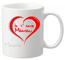 Mug Maman je t'aime Mod.4 - Cadeau personnalise personnalisable - 1