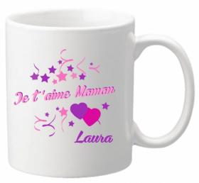 Mug Maman je t'aime Mod.6 - Cadeau personnalise personnalisable - 1