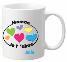 Mug Maman je t'aime Mod.8 - Cadeau personnalise personnalisable - 1