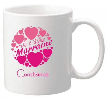 Mug Marraine je t'aime Mod.2 - Cadeau personnalise personnalisable - 1