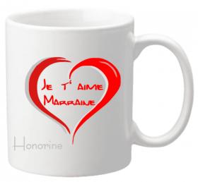 Mug Marraine je t'aime Mod.4 - Cadeau personnalise personnalisable - 1