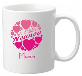 Mug Nounou je t'aime Mod.2 - Cadeau personnalise personnalisable - 1