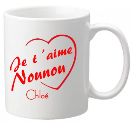 Mug Nounou je t'aime Mod.3 - Cadeau personnalise personnalisable - 1
