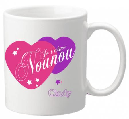 Mug Nounou je t'aime Mod.5 - Cadeau personnalise personnalisable - 1