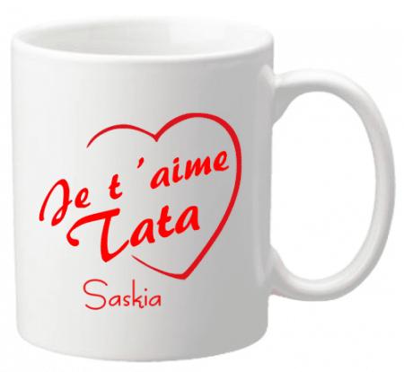 Mug Tata je t'aime Mod.3 - Cadeau personnalise personnalisable - 1