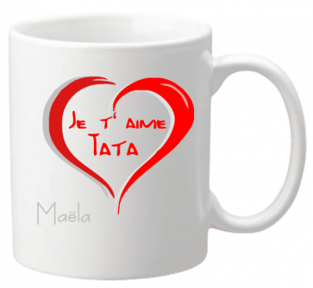 Mug Tata je t'aime Mod.4 - Cadeau personnalise personnalisable - 1