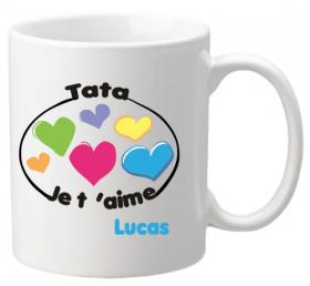 Mug Tata je t'aime Mod.8 - Cadeau personnalise personnalisable - 1