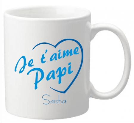 Mug Papi je t'aime Mod.3-f - Cadeau personnalise personnalisable - 1