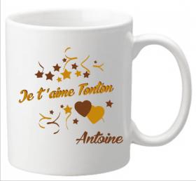 Mug Tonton je t'aime Mod.6 - Cadeau personnalise personnalisable - 1