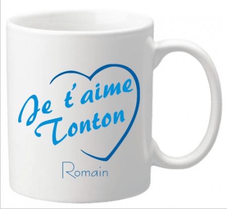 x Mug Tonton je t'aime Mod.3 - Cadeau personnalise personnalisable - 1